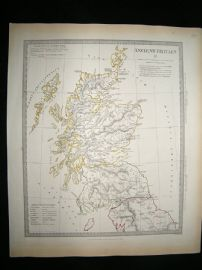 Ancient Britain: 1834 Antique Map. SDUK